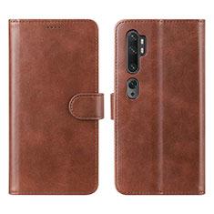 Xiaomi Mi Note 10用手帳型 レザーケース スタンド カバー L02 Xiaomi ブラウン