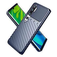 Xiaomi Mi Note 10用360度 フルカバー極薄ソフトケース シリコンケース 耐衝撃 全面保護 バンパー S01 Xiaomi ネイビー