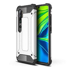 Xiaomi Mi Note 10用ハイブリットバンパーケース プラスチック 兼シリコーン カバー Xiaomi ホワイト