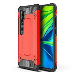 Xiaomi Mi Note 10用ハイブリットバンパーケース プラスチック 兼シリコーン カバー Xiaomi レッド