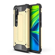 Xiaomi Mi Note 10用ハイブリットバンパーケース プラスチック 兼シリコーン カバー Xiaomi ゴールド