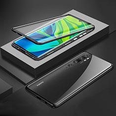 Xiaomi Mi Note 10用ケース 高級感 手触り良い アルミメタル 製の金属製 360度 フルカバーバンパー 鏡面 カバー Xiaomi ブラック