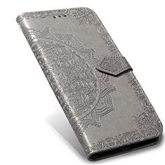 Xiaomi Mi Note 10 Lite用手帳型 レザーケース スタンド カバー L02 Xiaomi グレー