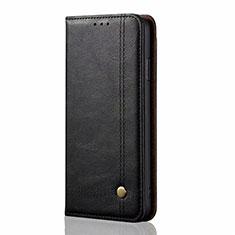 Xiaomi Mi Note 10 Lite用手帳型 レザーケース スタンド カバー L03 Xiaomi ブラック