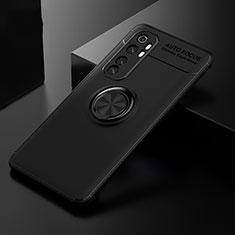 Xiaomi Mi Note 10 Lite用極薄ソフトケース シリコンケース 耐衝撃 全面保護 アンド指輪 マグネット式 バンパー Xiaomi ブラック