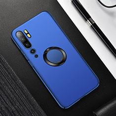 Xiaomi Mi Note 10 Pro用ハードケース プラスチック 質感もマット アンド指輪 マグネット式 P01 Xiaomi ネイビー