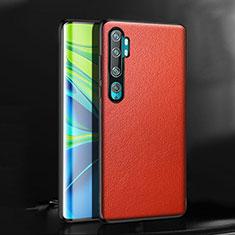 Xiaomi Mi Note 10 Pro用ケース 高級感 手触り良いレザー柄 R08 Xiaomi レッド