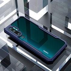 Xiaomi Mi Note 10 Pro用ハイブリットバンパーケース クリア透明 プラスチック 鏡面 カバー H01 Xiaomi ネイビー