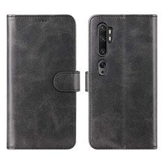 Xiaomi Mi Note 10 Pro用手帳型 レザーケース スタンド カバー L02 Xiaomi ブラック