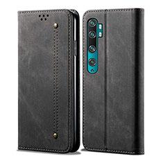 Xiaomi Mi Note 10 Pro用手帳型 レザーケース スタンド カバー L01 Xiaomi ブラック