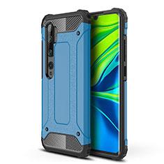 Xiaomi Mi Note 10 Pro用ハイブリットバンパーケース プラスチック 兼シリコーン カバー Xiaomi ネイビー
