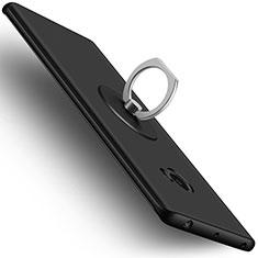 Xiaomi Mi Note 2用ハードケース プラスチック 質感もマット アンド指輪 Xiaomi ブラック