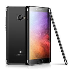 Xiaomi Mi Note 2用極薄ソフトケース シリコンケース 耐衝撃 全面保護 クリア透明 H01 Xiaomi ブラック