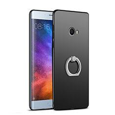 Xiaomi Mi Note 2用ハードケース プラスチック 質感もマット アンド指輪 A02 Xiaomi ブラック