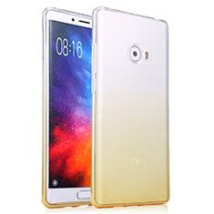 Xiaomi Mi Note 2 Special Edition用極薄ソフトケース グラデーション 勾配色 クリア透明 Xiaomi イエロー