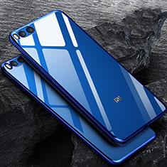 Xiaomi Mi Note 3用極薄ソフトケース シリコンケース 耐衝撃 全面保護 クリア透明 Xiaomi ネイビー