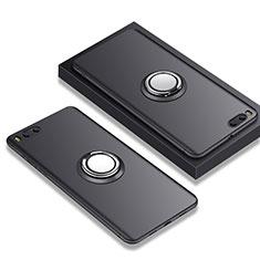 Xiaomi Mi Note 3用極薄ソフトケース シリコンケース 耐衝撃 全面保護 アンド指輪 A02 Xiaomi ブラック