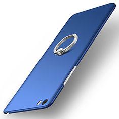 Xiaomi Mi Note用ハードケース プラスチック 質感もマット アンド指輪 Xiaomi ネイビー