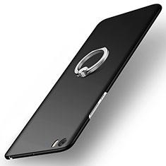 Xiaomi Mi Note用ハードケース プラスチック 質感もマット アンド指輪 Xiaomi ブラック