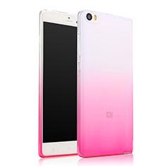 Xiaomi Mi Note用極薄ソフトケース グラデーション 勾配色 クリア透明 Xiaomi ピンク