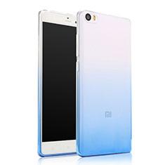 Xiaomi Mi Note用極薄ソフトケース グラデーション 勾配色 クリア透明 Xiaomi ネイビー