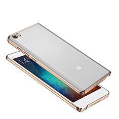 Xiaomi Mi Note用極薄ケース プラスチック クリア透明 カバー Xiaomi ゴールド
