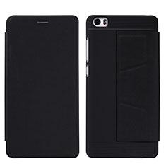 Xiaomi Mi Note用手帳型 レザーケース スタンド L01 Xiaomi ブラック