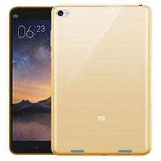 Xiaomi Mi Pad 2用極薄ソフトケース シリコンケース 耐衝撃 全面保護 クリア透明 Xiaomi ゴールド