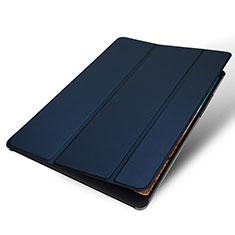 Xiaomi Mi Pad 4用手帳型 レザーケース スタンド カバー Xiaomi ネイビー
