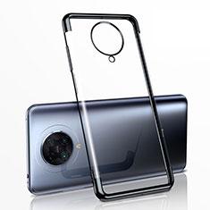 Xiaomi Poco F2 Pro用極薄ソフトケース シリコンケース 耐衝撃 全面保護 クリア透明 H03 Xiaomi ブラック