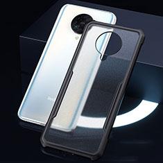 Xiaomi Poco F2 Pro用ハイブリットバンパーケース クリア透明 プラスチック 鏡面 カバー H01 Xiaomi ブラック