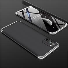Xiaomi Poco M3用ハードケース プラスチック 質感もマット 前面と背面 360度 フルカバー M01 Xiaomi シルバー・ブラック