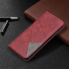Xiaomi Poco M3用手帳型 レザーケース スタンド カバー T17 Xiaomi レッド