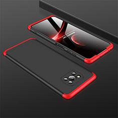 Xiaomi Poco X3 NFC用ハードケース プラスチック 質感もマット 前面と背面 360度 フルカバー M01 Xiaomi レッド・ブラック