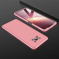 Xiaomi Poco X3 NFC用ハードケース プラスチック 質感もマット 前面と背面 360度 フルカバー M01 Xiaomi ローズゴールド