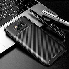 Xiaomi Poco X3 NFC用シリコンケース ソフトタッチラバー ツイル カバー Xiaomi ブラック