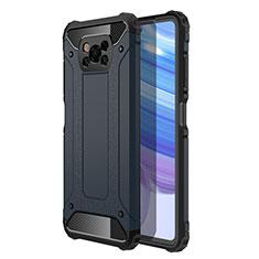 Xiaomi Poco X3 NFC用ハイブリットバンパーケース プラスチック 兼シリコーン カバー Xiaomi ミッドナイトネイビー