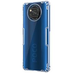 Xiaomi Poco X3 NFC用極薄ソフトケース シリコンケース 耐衝撃 全面保護 クリア透明 T02 Xiaomi クリア