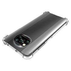 Xiaomi Poco X3 NFC用極薄ソフトケース シリコンケース 耐衝撃 全面保護 クリア透明 カバー Xiaomi クリア