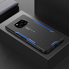 Xiaomi Poco X3 NFC用ケース 高級感 手触り良い アルミメタル 製の金属製 カバー Xiaomi ネイビー