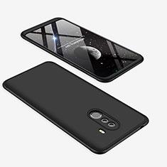 Xiaomi Pocophone F1用ハードケース プラスチック 質感もマット 前面と背面 360度 フルカバー Xiaomi ブラック