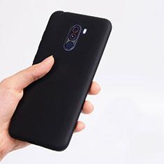 Xiaomi Pocophone F1用極薄ソフトケース シリコンケース 耐衝撃 全面保護 Xiaomi ブラック