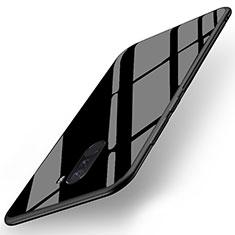Xiaomi Pocophone F1用シリコンケース ソフトタッチラバー 鏡面 Xiaomi ブラック