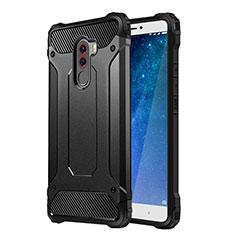 Xiaomi Pocophone F1用シリコンケース ソフトタッチラバー 質感もマット Xiaomi ブラック