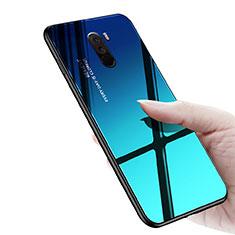 Xiaomi Pocophone F1用シリコンケース ソフトタッチラバー 鏡面 M03 Xiaomi ネイビー
