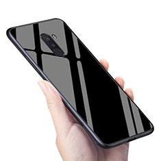 Xiaomi Pocophone F1用シリコンケース ソフトタッチラバー 鏡面 M04 Xiaomi ブラック