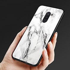 Xiaomi Pocophone F1用シリコンケース ソフトタッチラバー 鏡面 M05 Xiaomi ホワイト