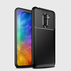 Xiaomi Pocophone F1用シリコンケース ソフトタッチラバー ツイル B03 Xiaomi ブラック