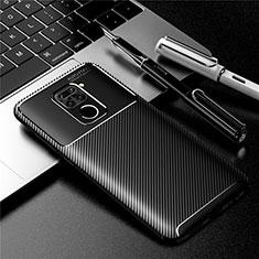 Xiaomi Redmi 10X 4G用シリコンケース ソフトタッチラバー ツイル カバー Xiaomi ブラック