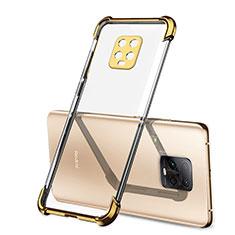 Xiaomi Redmi 10X Pro 5G用極薄ソフトケース シリコンケース 耐衝撃 全面保護 クリア透明 H01 Xiaomi ゴールド